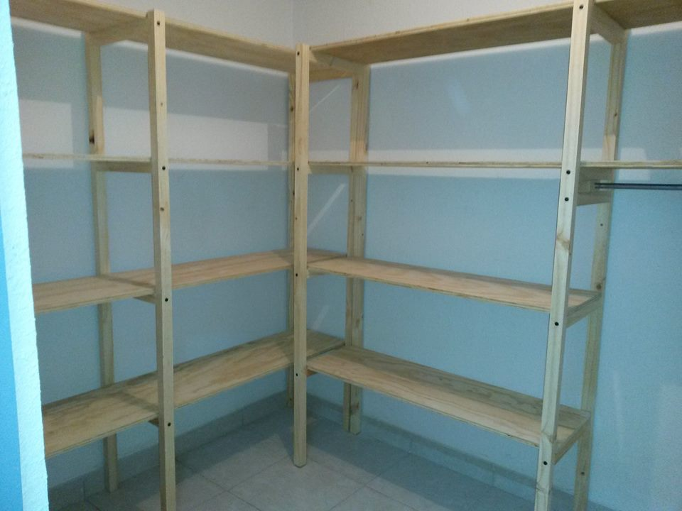 Como hacer repisas de madera free como hacer estantes - Madera para estantes ...